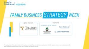 family business magazine webinar title slide